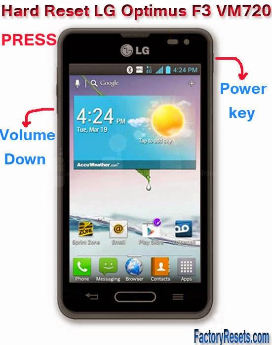 Hard Reset LG Optimus F3 VM720