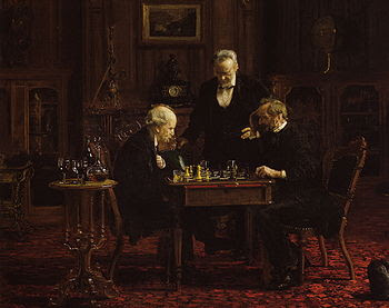 chess painting thomas eakins