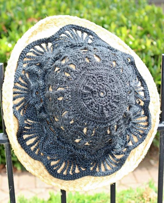 szydelkowy kapelusz koronkowy