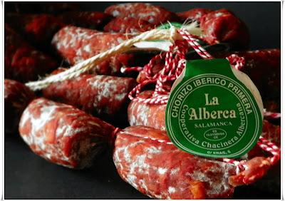 """Chorizos ibéricos """"La Alberca"""" dulces y picantes"""