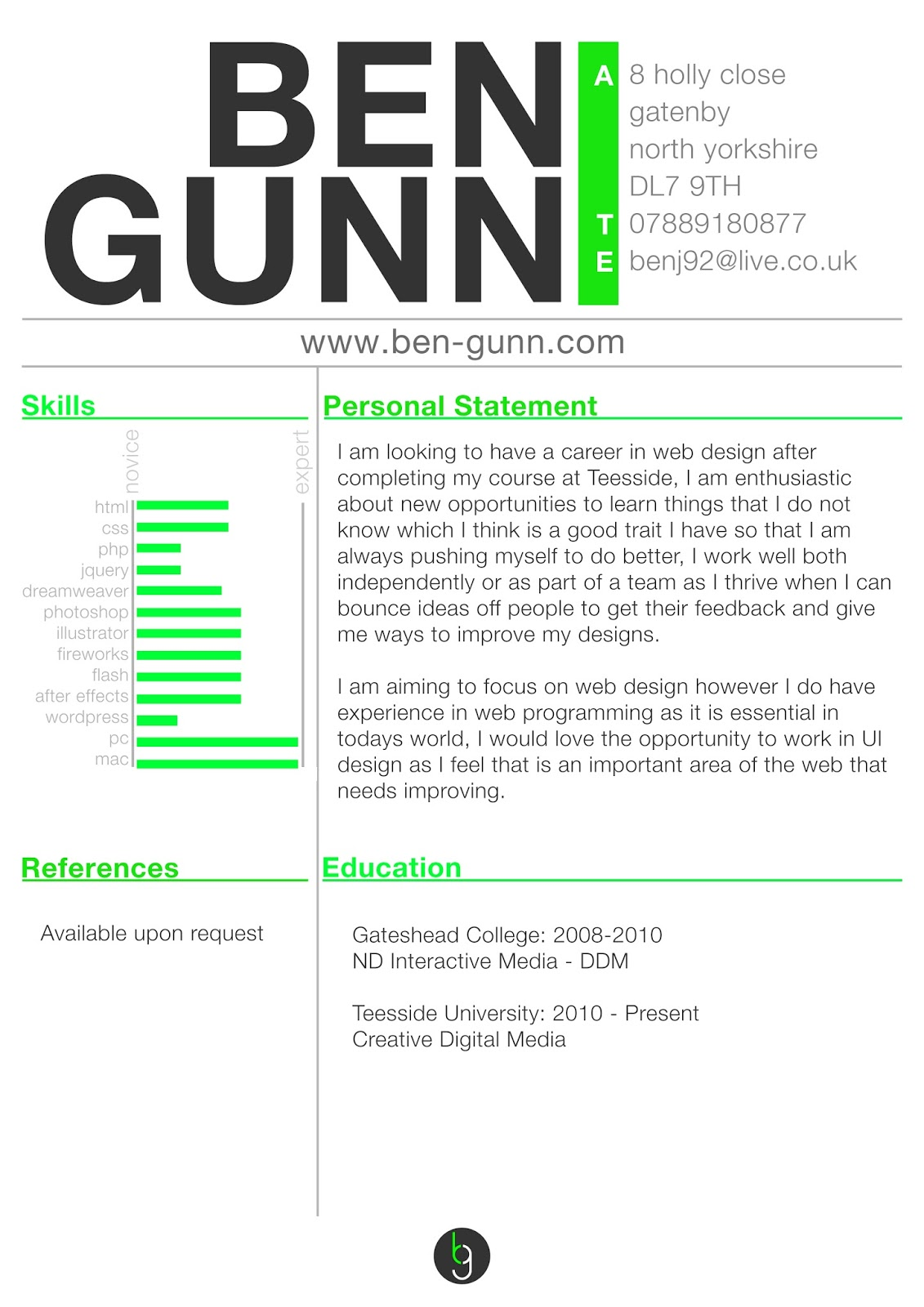 resume templates for web designers - Web Design Resume Examples
