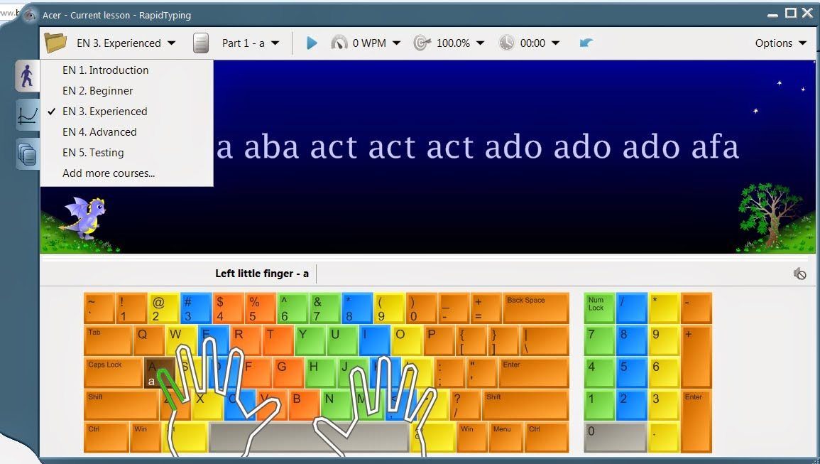 cara mengetik 10 jari dengan cepat dan benar, rapid typing