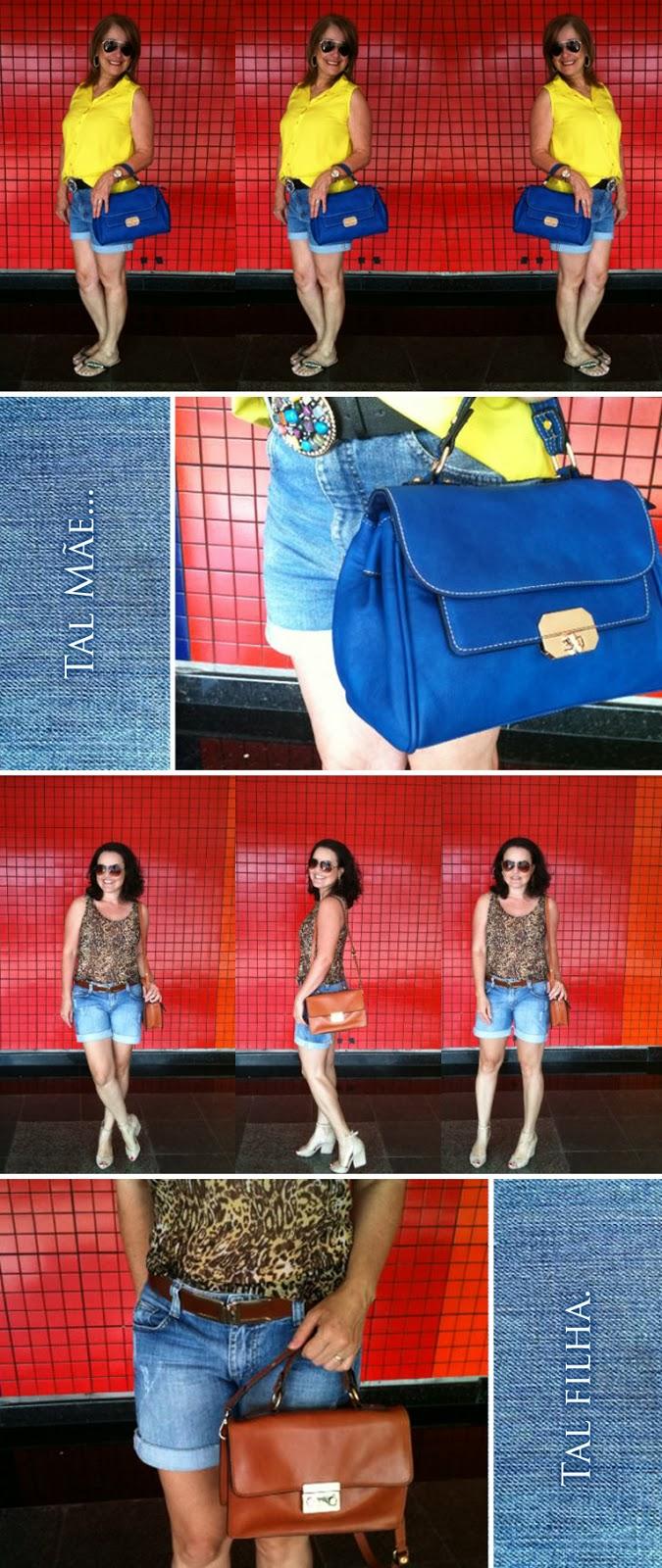 Jeans, bermuda, look, look da dupla, joinville, mãe, filha, amamos jeans, Tal mãe... tal filha!