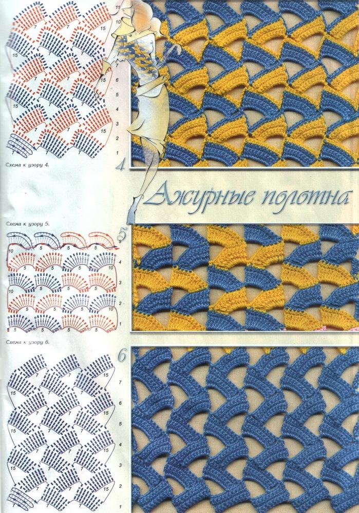 TRICO y CROCHET-madona-mía: Crochet Turco Puntos con patrón