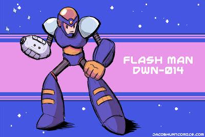 Robot Master Flash Man from Mega Man 2