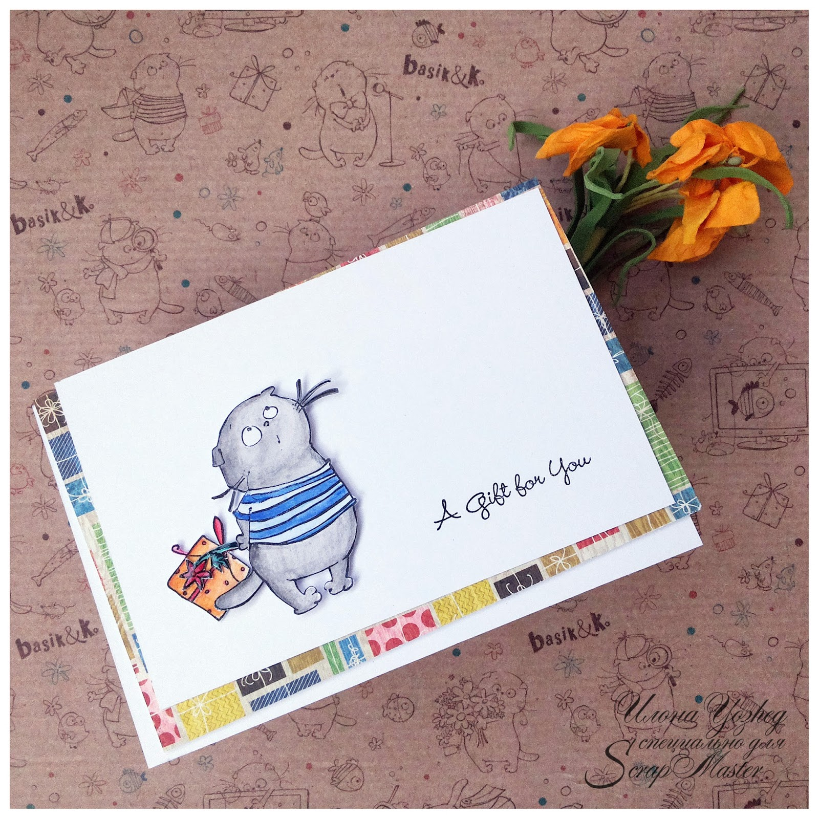 Скрапбукинг открытки со штампами мастер класс