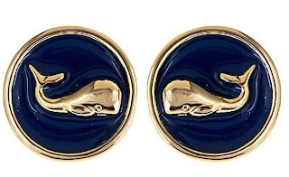 Swell Caroline Enamel Whale Earrings