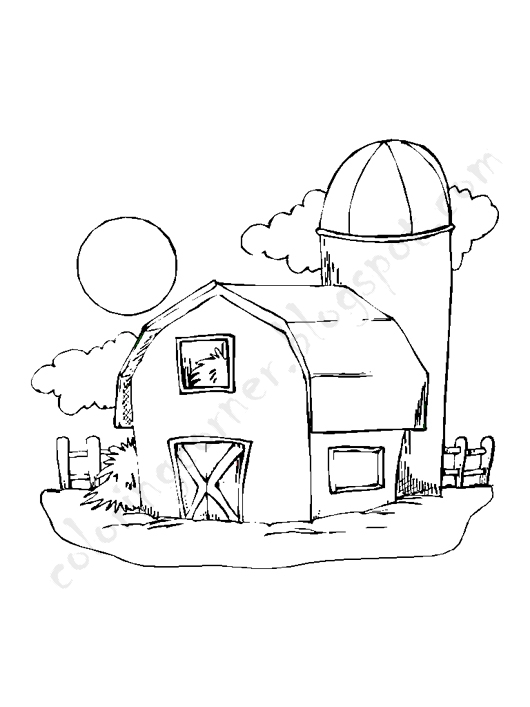 barn coloring pages for kids - photo#21