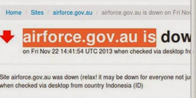 Hacker Indonesia Sempat Lumpuhkan Situs Angkatan Udara Australia