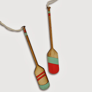 Furbish Studio mini oar ornaments