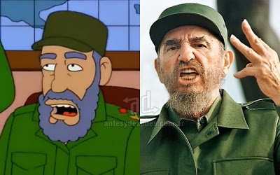 Fidel Castro simpsons artis+kartun Tokoh tokoh selebriti dalam serial kartun The Simpson