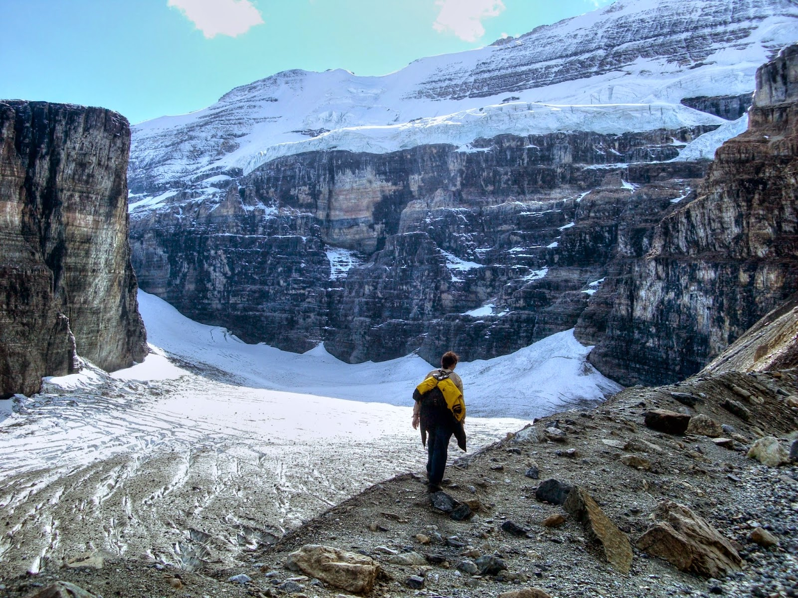 Hiking to the Plain of Six Glaciers, Lake Louise