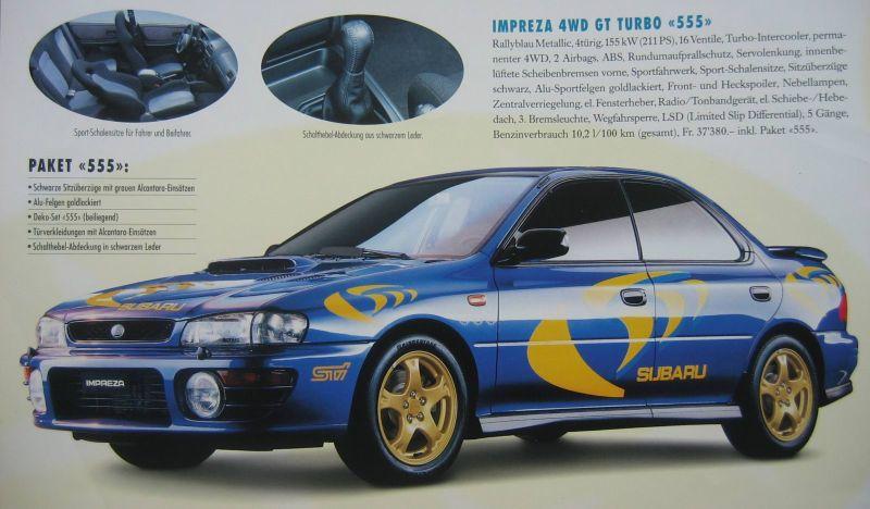 Subaru Impreza I, 1st, 1-gen, zdjęcia, japoński sportowy samochód, kultowy, 日本車, スポーツカー, スバル, 555 edition version