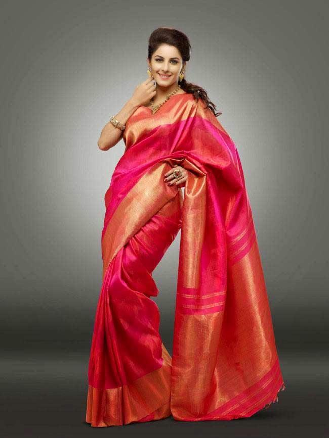 Isha Talwar In Pink Silk Saree