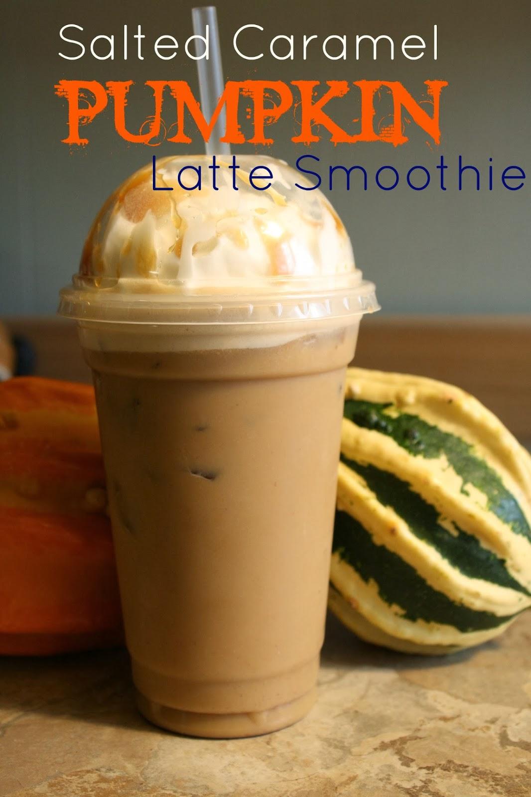 Sara's Home Life: Salted Caramel Pumpkin Latte Smoothie