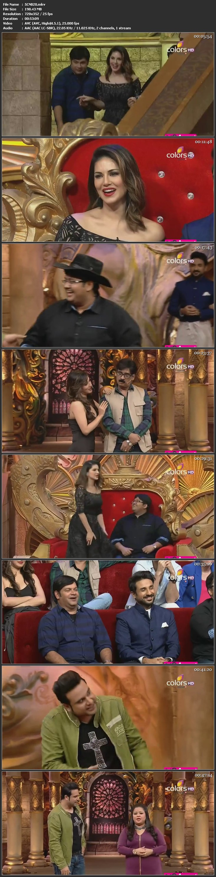 Screen Shot Of Comedy Nights Bachao 17th January 2016 Episode 20 200MB Watch Online