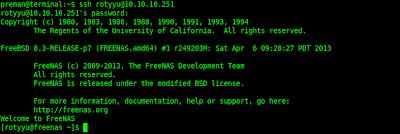 Akses layanan SSH dari Linux