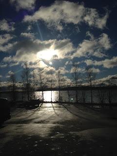 Crossfit sali kevät maisema Kuopio
