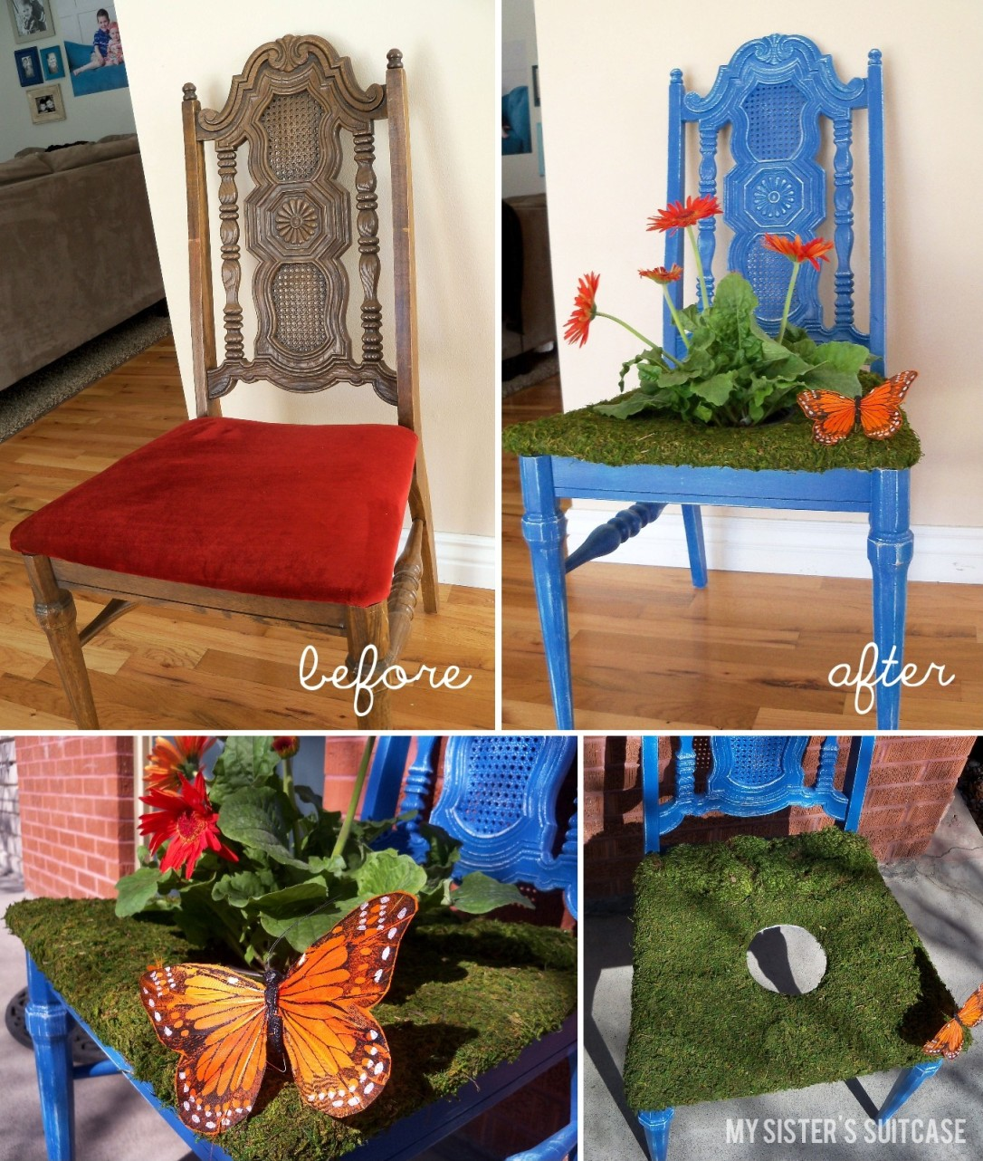 Spring Planter from a Thrifty Old Chair & Spring Planter from a Thrifty Old Chair - My Sisteru0027s Suitcase ...