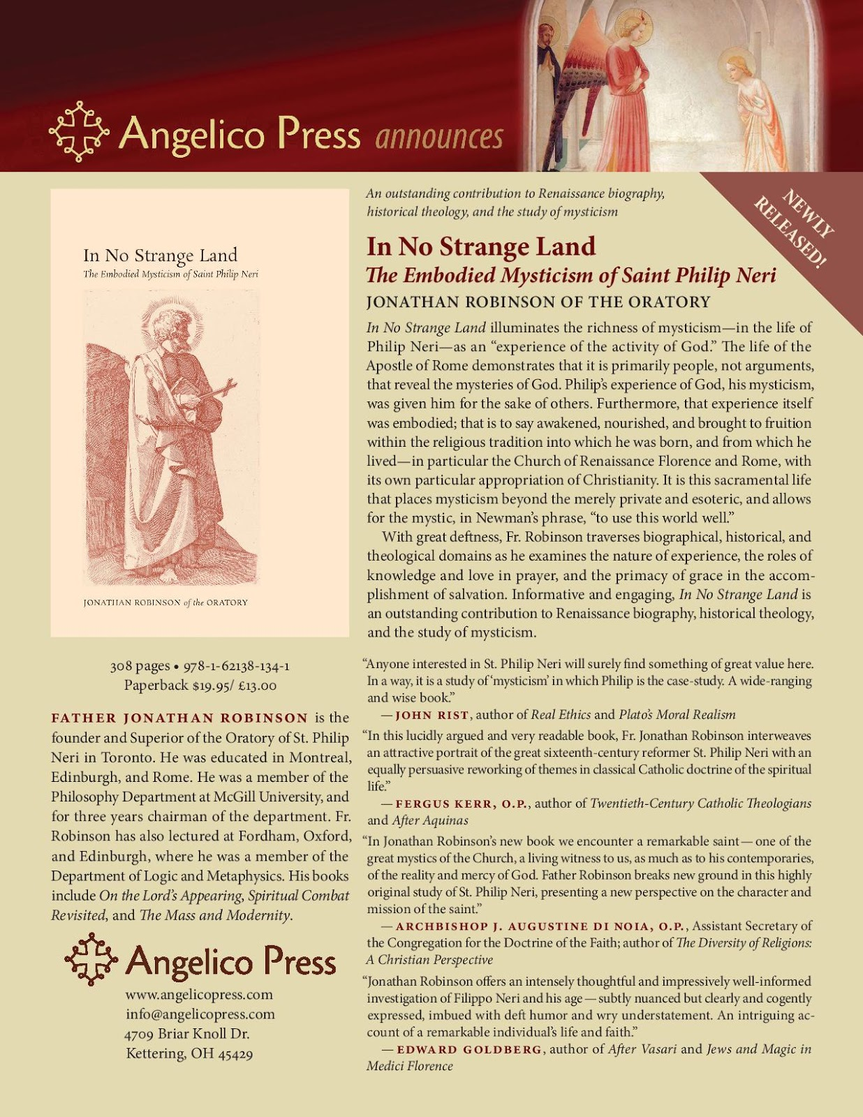 new liturgical movement a new book about st philip neri reviewed jonathan robinson founder of the toronto oratory has written a remarkable book on the founder of the oratorians it is not a biography or hagiography