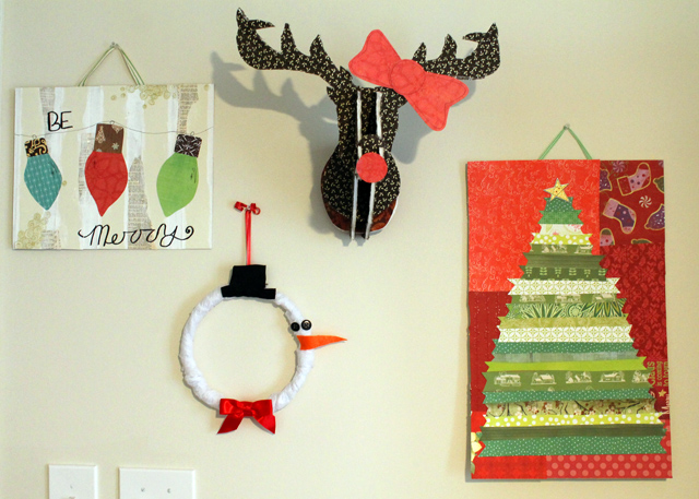Christmas Wall Decor Diy : This memorable life holiday decorating diy christmas art
