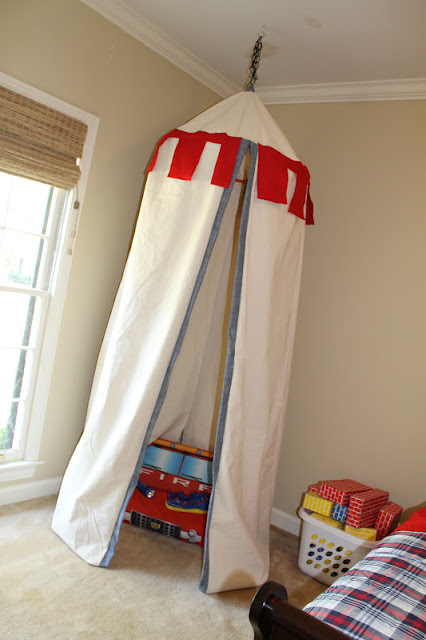 Boys Room Tent : Seamingly smitten knight bedroom makeover with castle