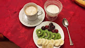 Espresso, yogurt and fruit