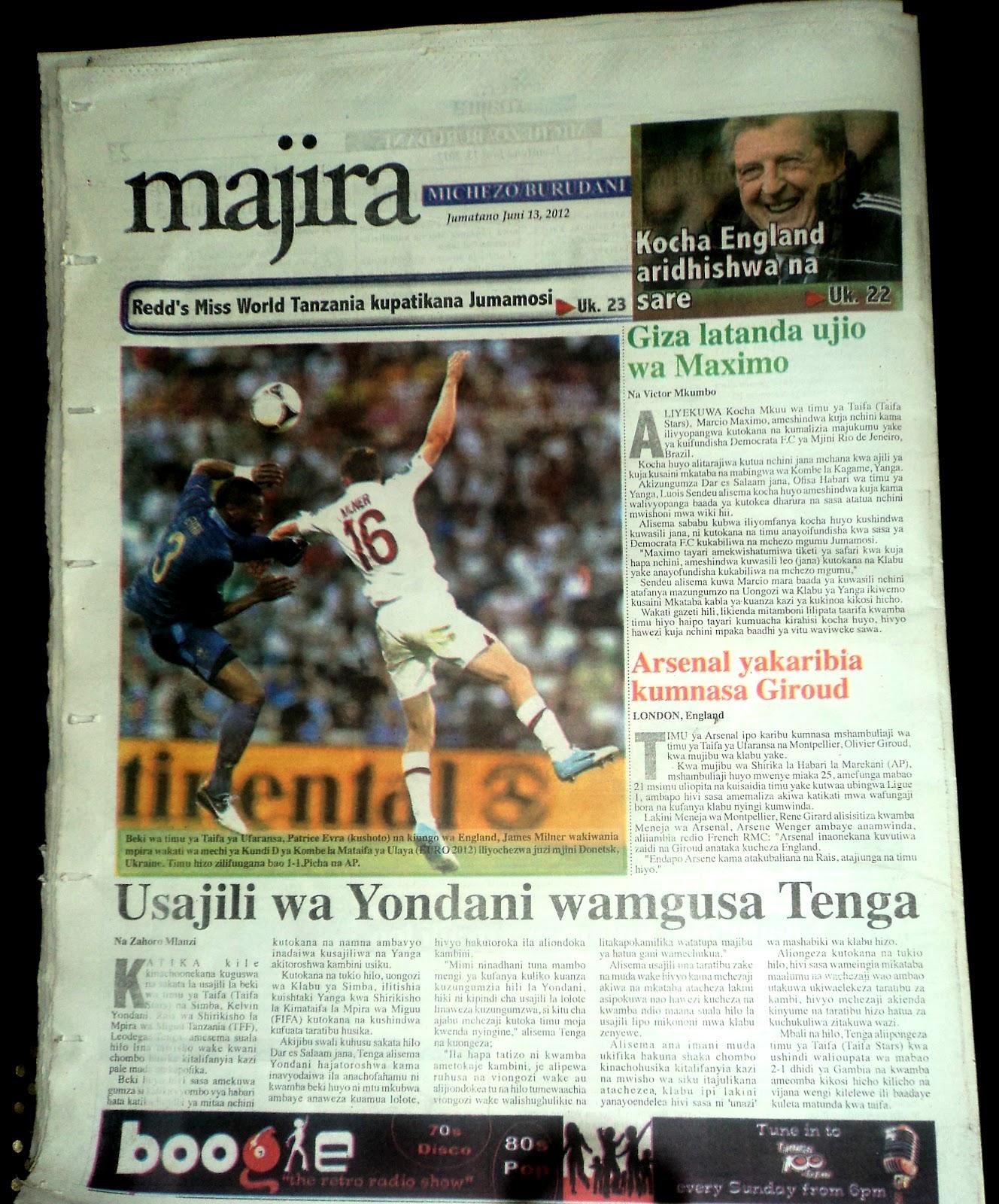 Magazeti Ya Leo Nipashe Related Keywords & Suggestions - Magazeti ...