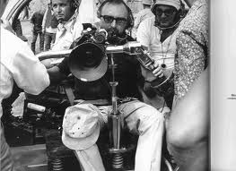 Italian filmmmaker sergio leone, on the camera