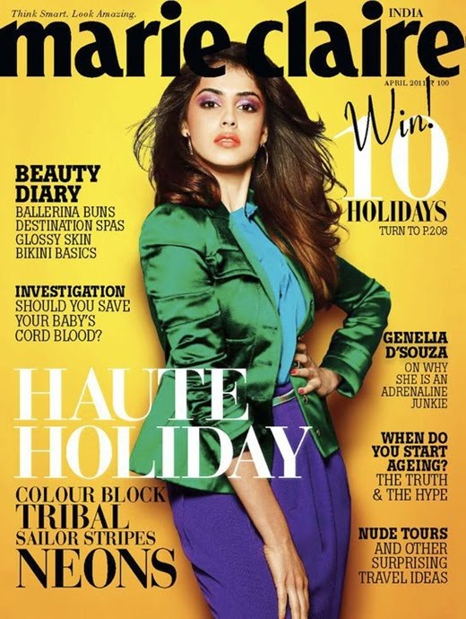 Genelia D'Souza on Marie Claire Magazine April 2011