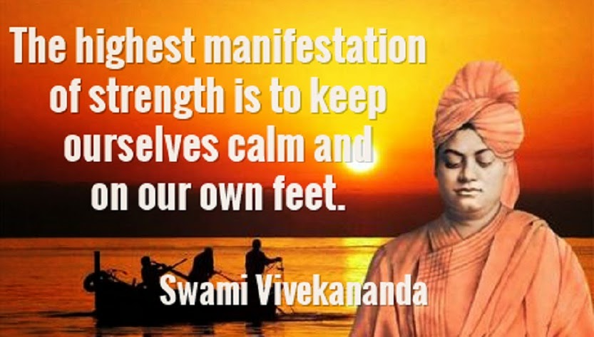The highest manifestation of strength is to keep ourselves calm and on our own feet.