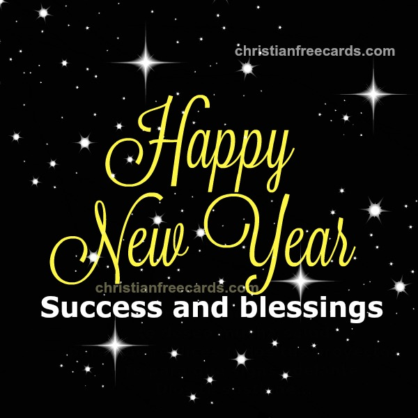 Free happy new year image with christian quotes by Mery Bracho. Free christian image.