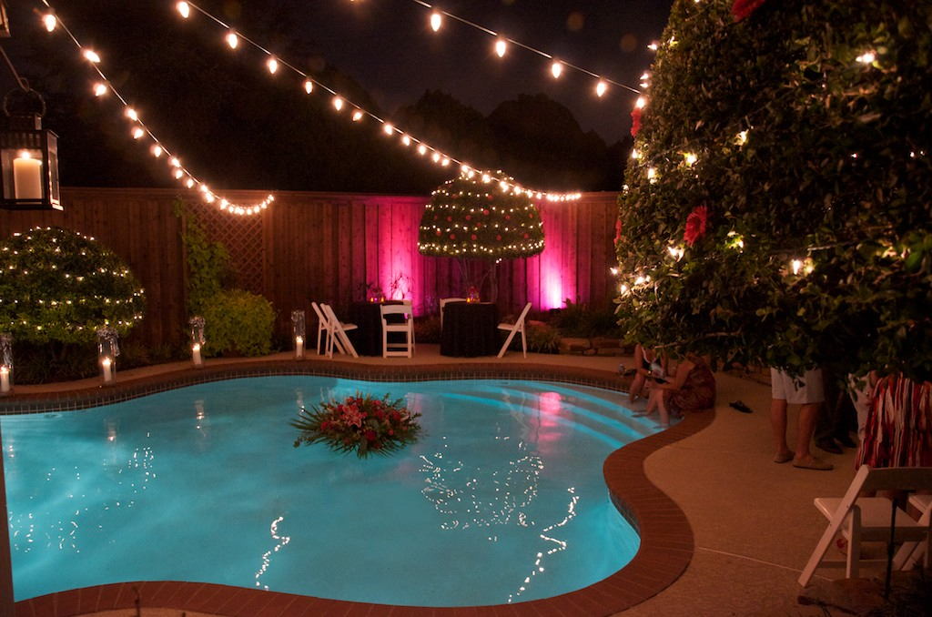 Lighting For Backyard Party : DFW Wedding and Event Lightingcom Backyard Wedding Lighting