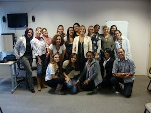 Prof. Marcelo Clemente e alunas do curso de Pedaoggia Hospitalar do Hospital Menino Jesus