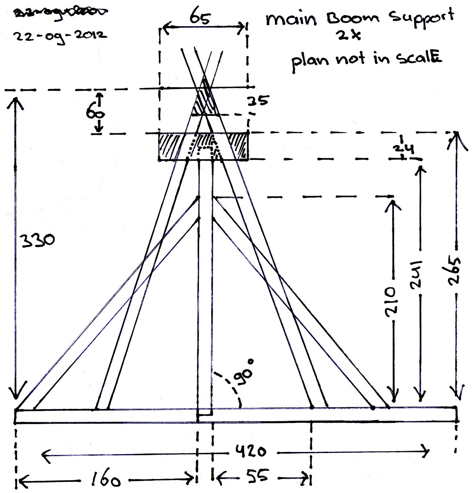 Trebuchet Main Supports 2x My Trebuchet Model Blog How
