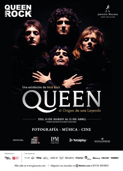 """""""QUEEN: EL ORIGEN DE UNA LEYENDA"""" Expo Mick Rock fotos y más 15 marzo - 21 abril"""