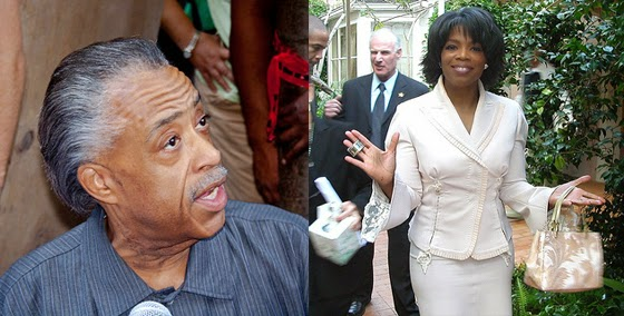 Al Sharpton (Photo by Paul VanDerWerf) and Oprah Winfrey (Photo by Alan Light)