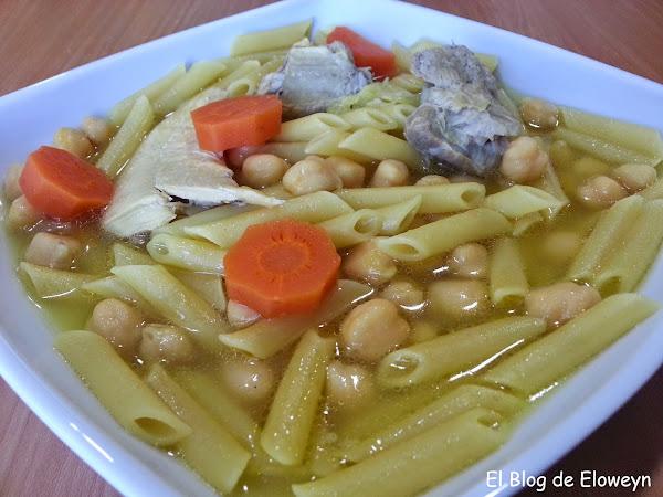 Cocido de garbanzos y macarrones for Cocinar alcachofas de bote