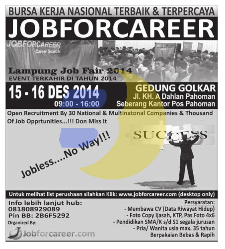 Job Fair Lampung Desember 2014