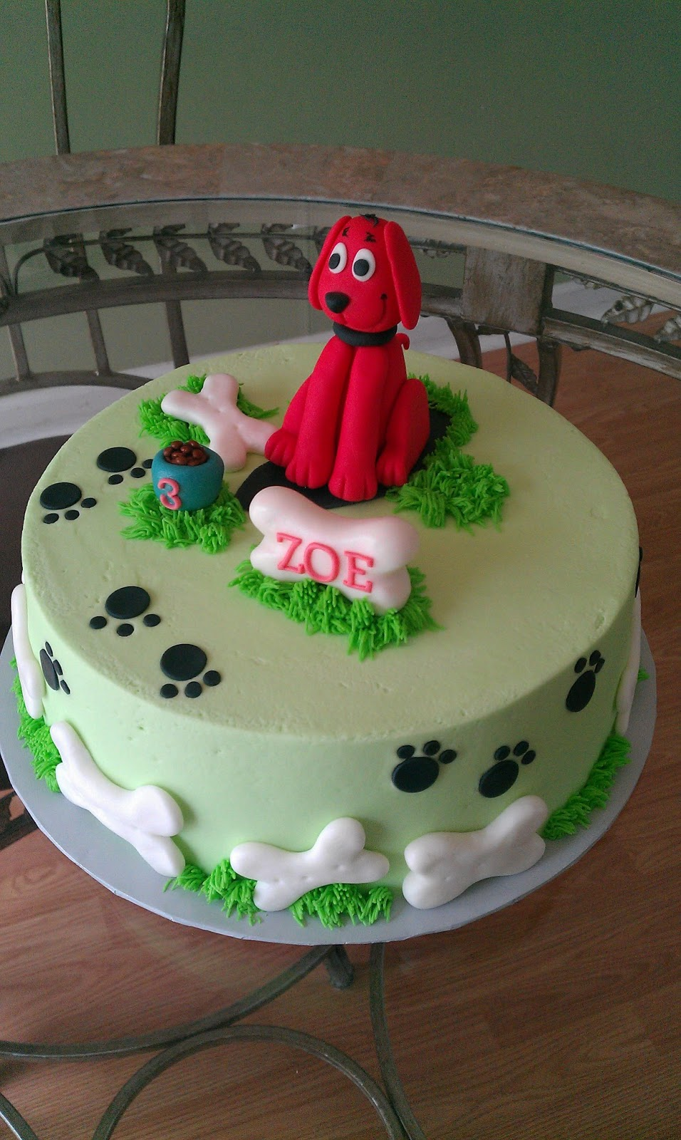 Cakes By Diana in Charlotte NC Clifford the big red dog cake