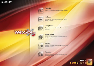 Incomedia WebSite X5 v8 - Evolution