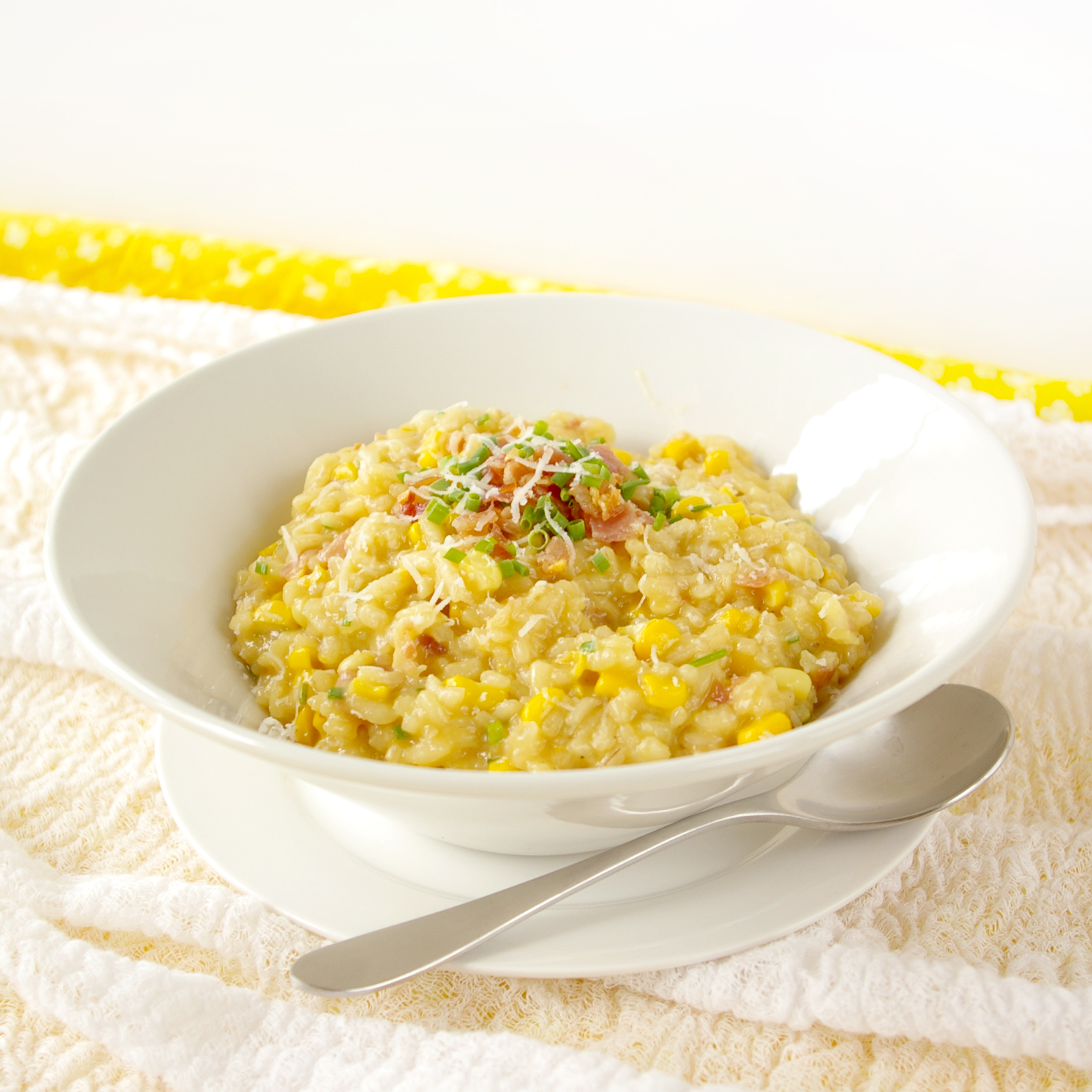 These Peas are Hollow: Sweet Corn Risotto