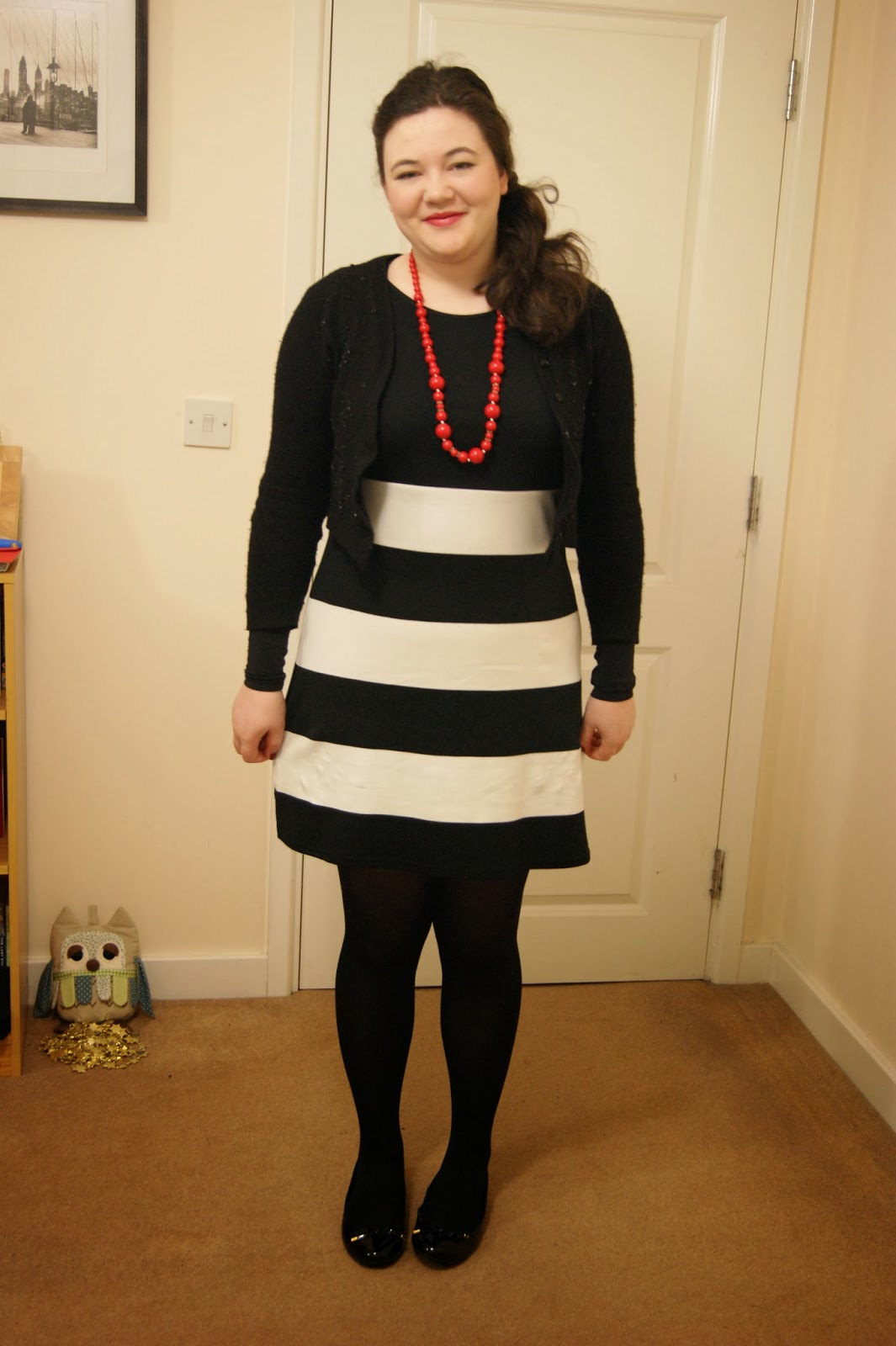 Black and white and red all over frills n spills