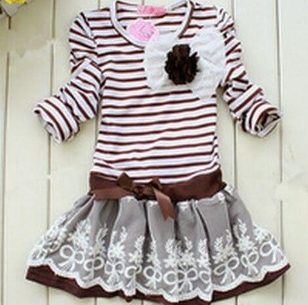 Dress baju korea untuk anak perempuan
