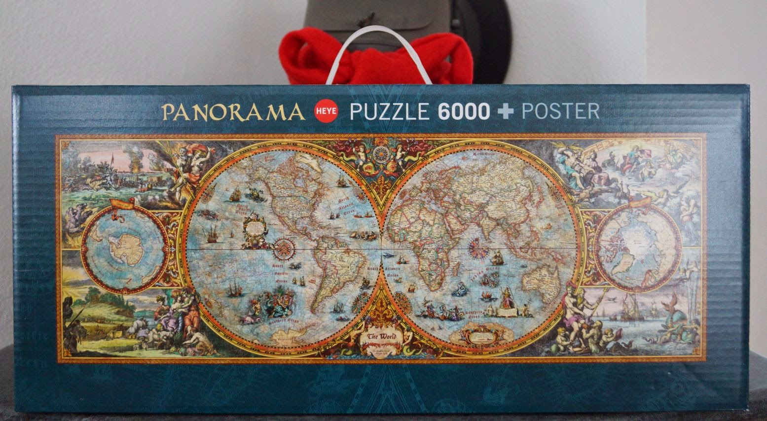 development process of hemisphere the 6000 pcs world map completed