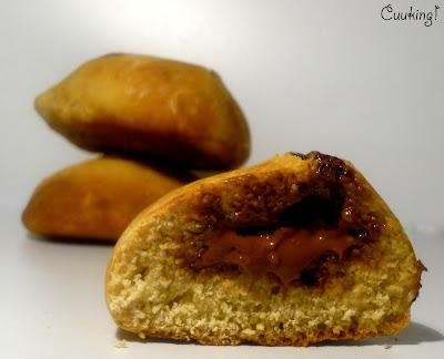 Bollitos de pan con chocolate