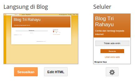 menggunakan edit html