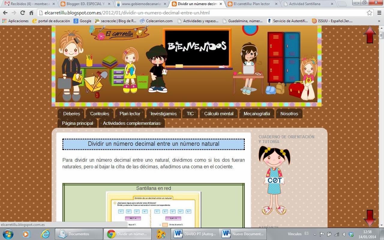 matematicas (calculo mental) y lengua de 5º y 6º primaria