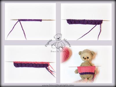 Мастер-класс. Вязание полосатого свитера.