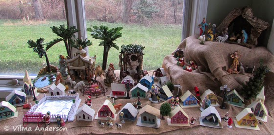 Nativity scene - Pesebre decorated